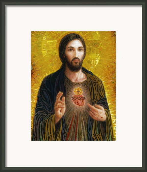 Sacred Heart Of Jesus Framed Print By Smith Catholic Art