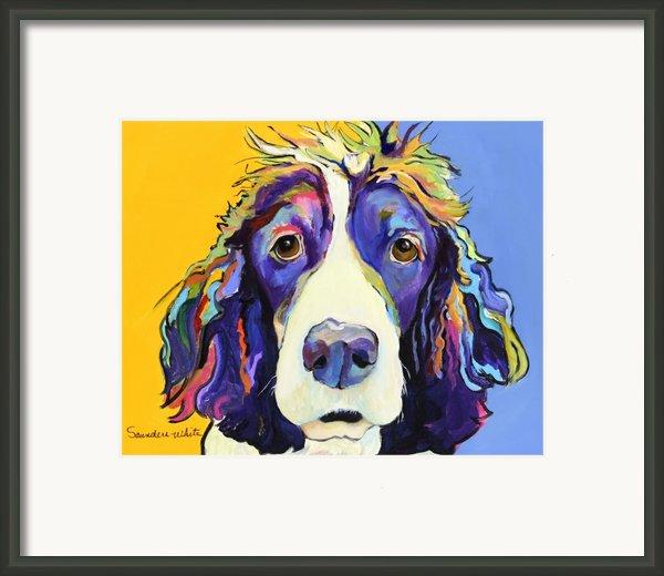 Sadie Framed Print By Pat Saunders-white