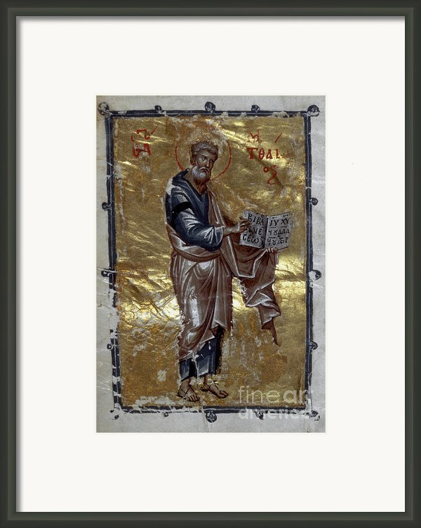 Saint Matthew Framed Print By Granger