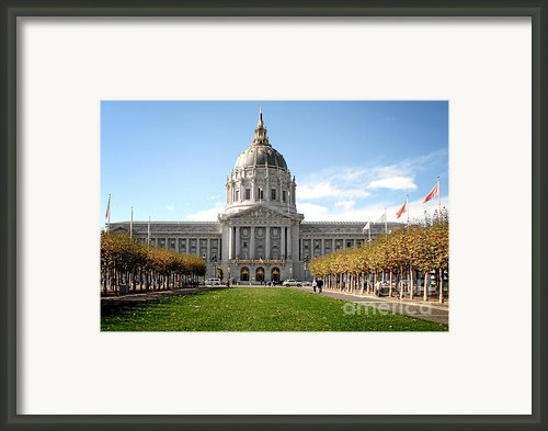 San Francisco City Hall - Beaux Arts At Its Best Framed Print By Christine Till