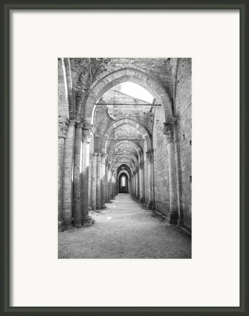 San Galgano Abbey Framed Print By Ralf Kaiser