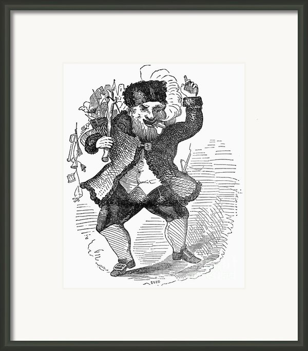 Santa Claus, 1849 Framed Print By Granger