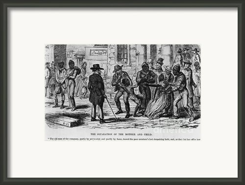 Scene From Uncle Toms Cabin Framed Print By Photo Researchers