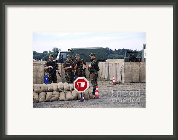 Scenery Of A Checkpoint Used Framed Print By Luc De Jaeger