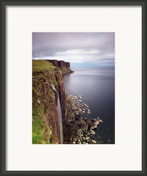 Scotland Kilt Rock Framed Print By Nina Papiorek