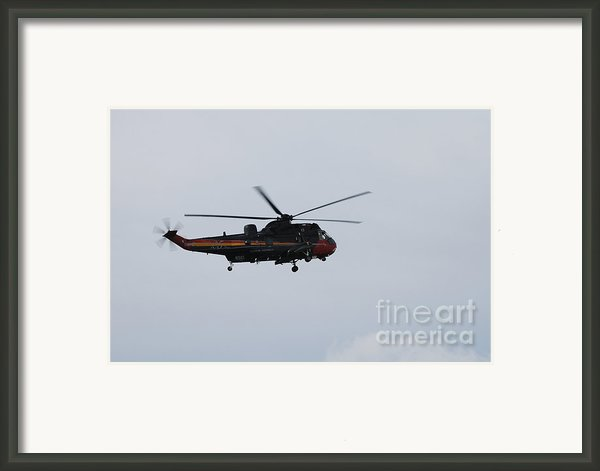 Sea King Helicopter Of The Belgian Army Framed Print By Luc De Jaeger