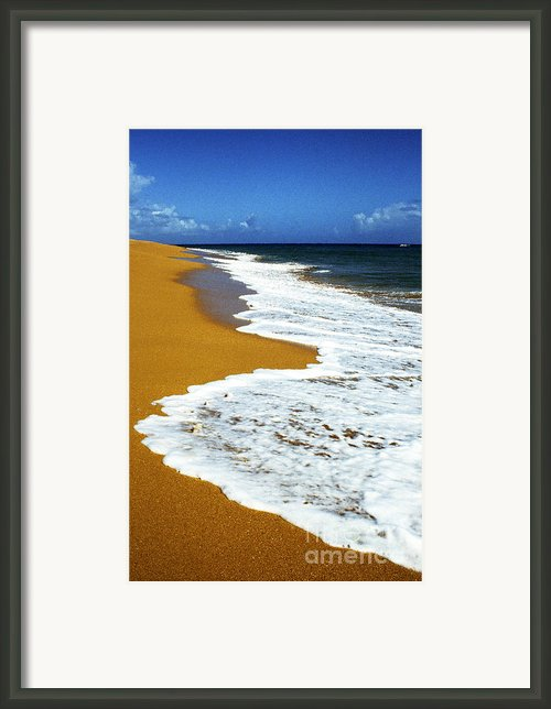Shoreline Along Pinones Framed Print By Thomas R Fletcher