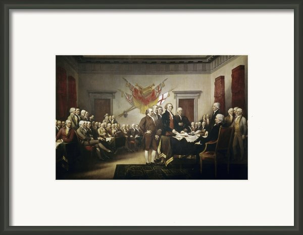 Signing The Declaration Of Independence Framed Print By John Trumbull