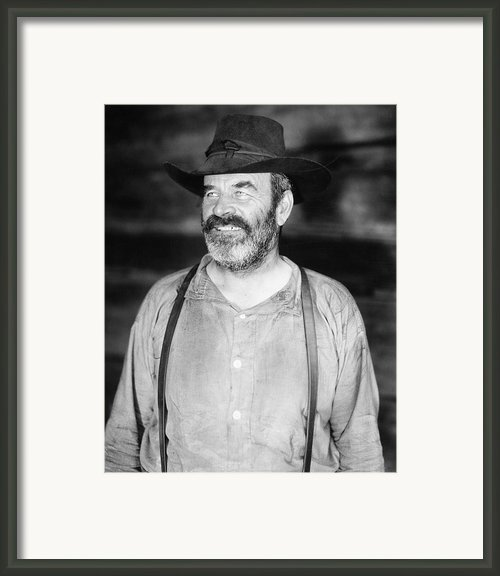 Silent Film Still: Beards Framed Print By Granger