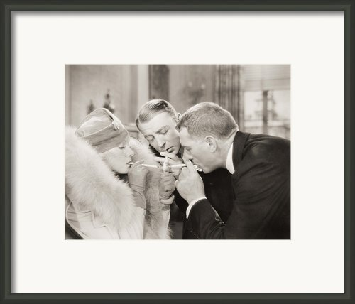 Silent Film Still: Smoking Framed Print By Granger