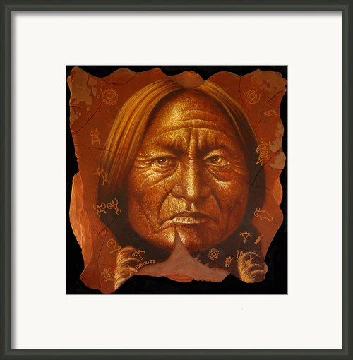 Sitting Bull Framed Print By Jurek Zamoyski