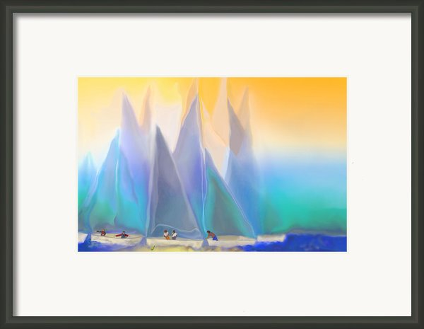 Smooth Sailing Framed Print By Mathilde Vhargon