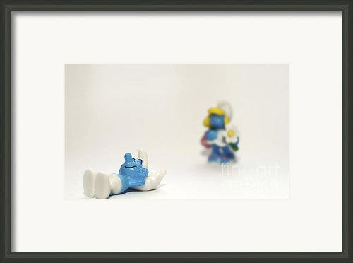 Smurf Figurines Framed Print By Amir Paz