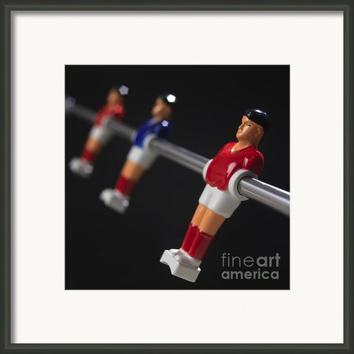 Soccer Framed Print By Bernard Jaubert