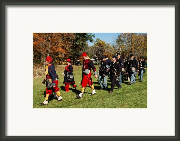 Soldiers March Framed Print By Leeann Mclanegoetz Mclanegoetzstudiollccom
