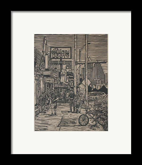 South Congress Framed Print By William Cauthern