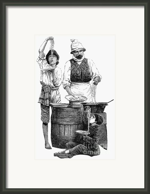 Spaghetti Vendor Framed Print By Granger