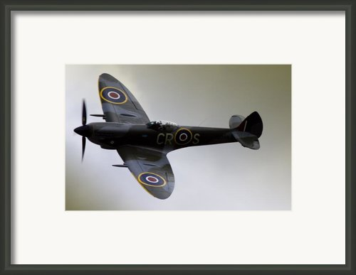 Spitfire Framed Print By Angel  Tarantella