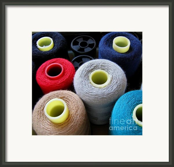 Spools Of Yarn Framed Print By Yali Shi