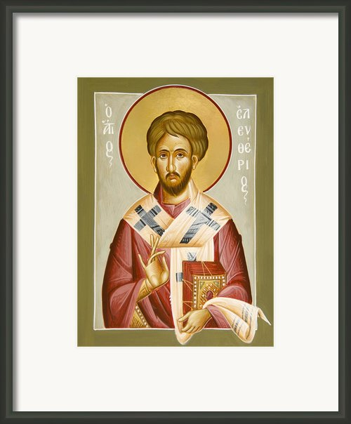 St Eleftherios Framed Print By Julia Bridget Hayes