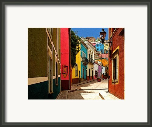 Street Of Color Guanajuato 2 Framed Print By Olden Mexico