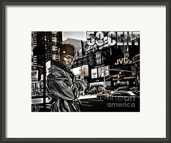 Street Phenomenon 50 Cent Framed Print By The Digartist