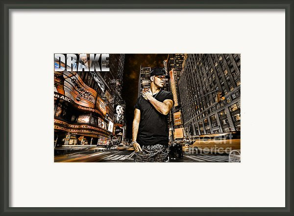 Street Phenomenon Drake Framed Print By The Digartist