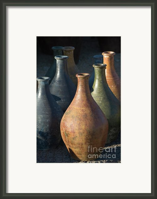Sunrise And Pottery Framed Print By Sandra Bronstein