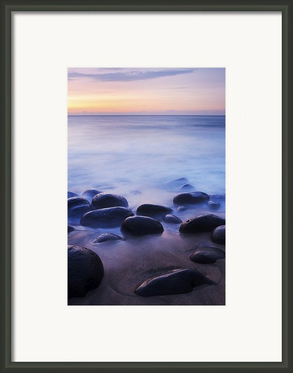 Sunset Over Kalalau Beach Framed Print By Quincy Dein - Printscapes