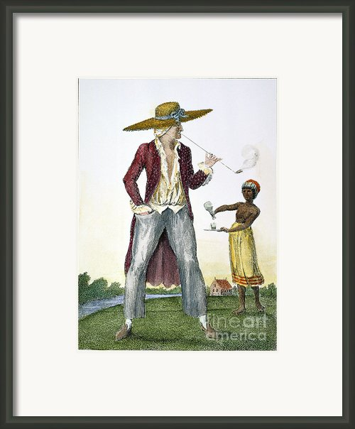 Surinam: Slave Owner, 1796 Framed Print By Granger