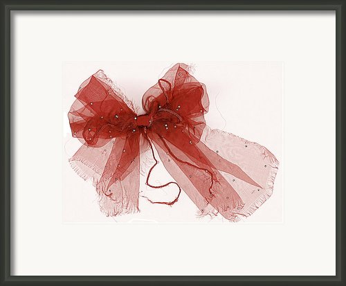 Tattered Red Framed Print By Dolly Mohr