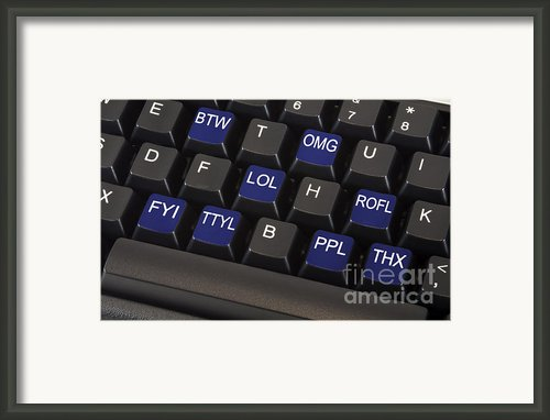 Text Message Keyboard Framed Print By Blink Images