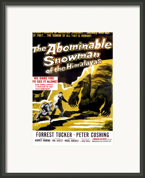 The Abominable Snowman, Aka The Framed Print By Everett