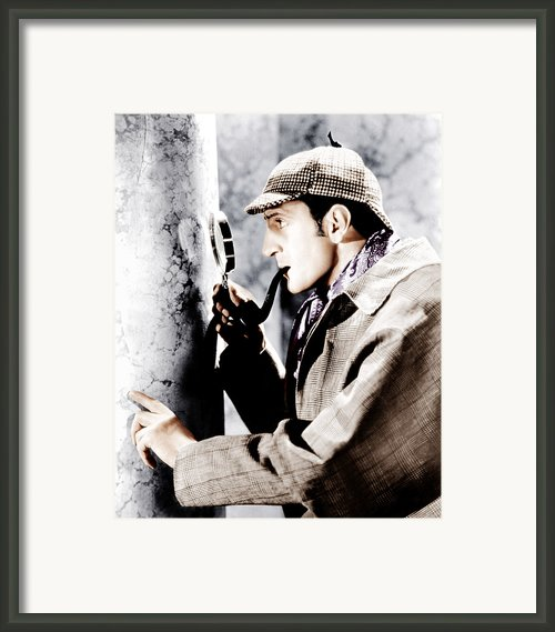 The Adventures Of Sherlock Holmes Framed Print By Everett