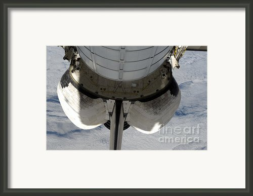 The Aft Portion Of The Space Shuttle Framed Print By Stocktrek Images