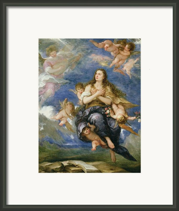 The Assumption Of Mary Magdalene Framed Print By Jose Antolinez