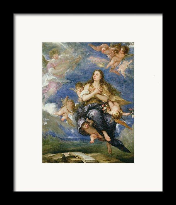 The Assumption Of Mary Magdalene Framed Print By Jose Antolinez
