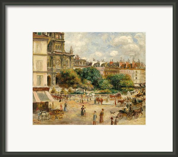 The Banks Of The Seine At Bougival Framed Print By Pierre Auguste Renoir