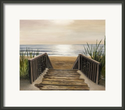 The Beach Framed Print By Toni  Thorne