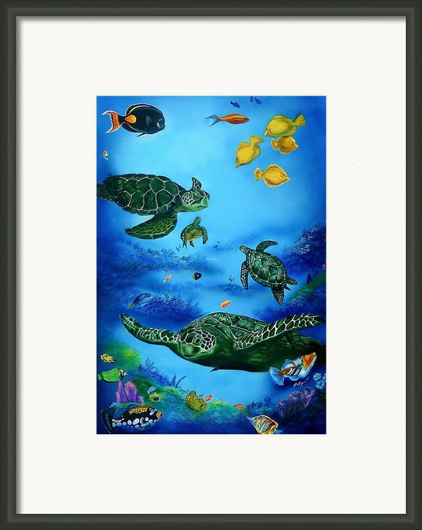 The Beauty Below Framed Print By Kathleen Kelly Thompson