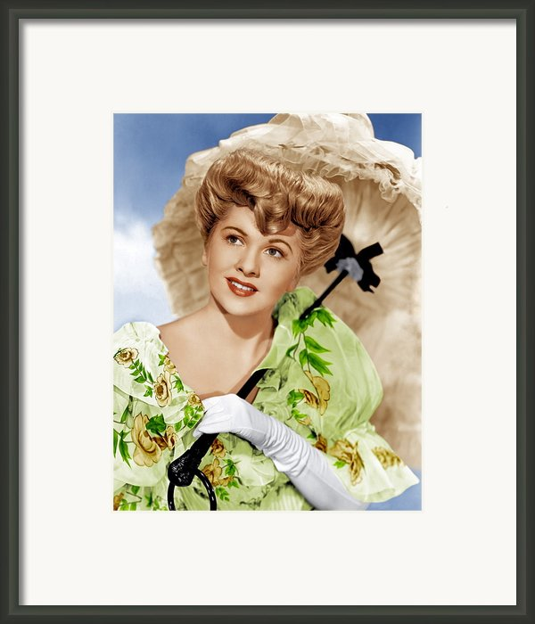 The Emperor Waltz, Joan Fontaine, 1948 Framed Print By Everett
