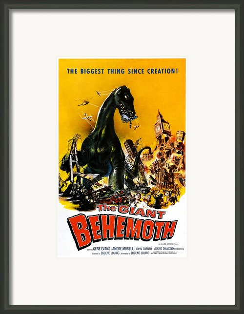 The Giant Behemoth, 1959 Framed Print By Everett