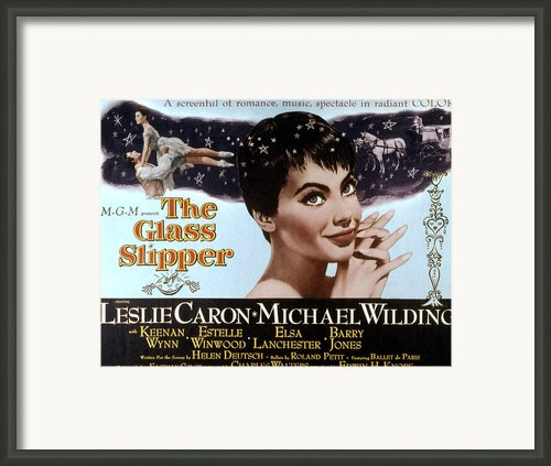The Glass Slipper, Leslie Caron Framed Print By Everett