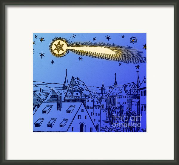 The Great Comet Of 1556 Framed Print By Science Source