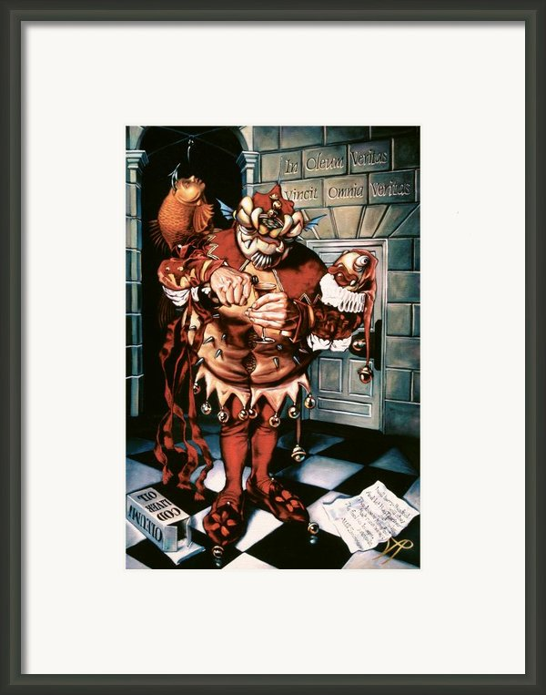 The Jesterook Framed Print By Patrick Anthony Pierson
