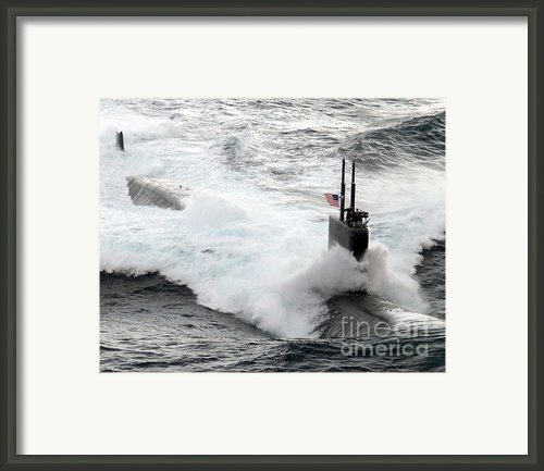 The Los Angeles-class Fast Attack Framed Print By Stocktrek Images