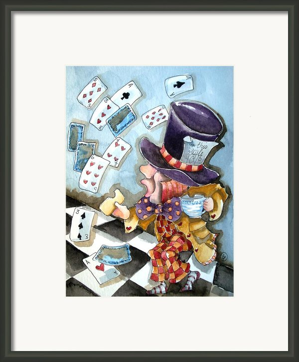 The Mad Hatter Framed Print By Lucia Stewart