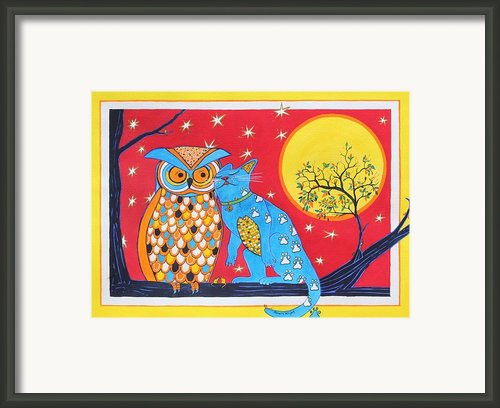 The Owl And The Pussycat Framed Print By Renata Wright