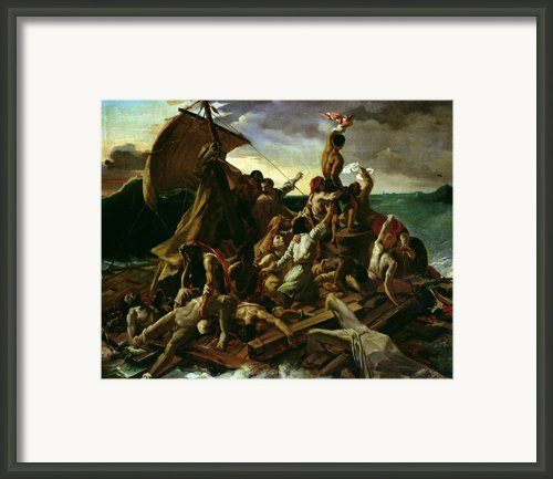 The Raft Of The Medusa Framed Print By Theodore Gericault