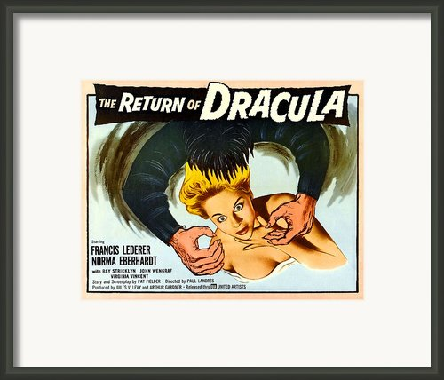The Return Of Dracula, Francis Lederer Framed Print By Everett